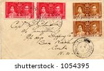 Addressed Envelope, 1937, sent from Barbados to Aruba - stock photo