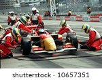Pit stop during Molson Indy Car Racing - EDITORIAL - stock photo