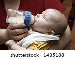 Baby Feeding - stock photo