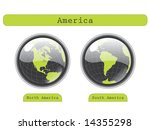 Globe Views - stock vector