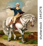 General George Washington - ''First in war, first in peace and first in the hearts of his coontrymen.'' A 1911 vintage illustration - stock photo