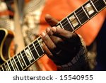 Guitarist's Hand - stock photo