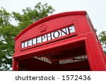 Classic British public phone booth - stock photo