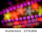 disco lights out of focus - stock photo