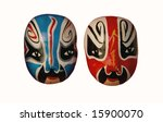 Chinese Opera masks - stock photo