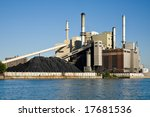 Fossil Fuel Coal Burning Electrical Power Plant - stock photo