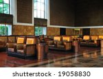 The elegant waiting room of Union Station in Los Angeles - stock photo