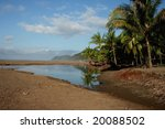 Beach of Jaco in Costa Rica - stock photo