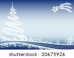 Winter xmas background - stock vector