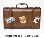 retro traveling bag - stock photo
