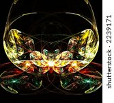 Fractal colorful symmetrical abstract flower - stock photo