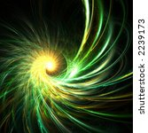 Emerald fantasy spiral star - stock photo