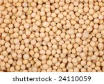 A Close Up Of Dried Soybeans Background - stock photo