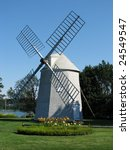 A beautiful windmill in Orleans, Cape Cod - stock photo