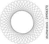 Vector spirograph pattern frame - stock vector