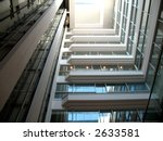 Interior office and shopping complex - stock photo