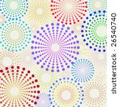 Vector seamless retro fun dotted circles pattern - stock vector
