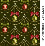 Seamless Christmas balls wallpaper pattern, vector - stock vector