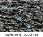 Abstract waves of mud texture - stock photo