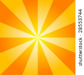 Sunburst Background Vector. - stock vector