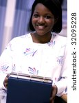 African American nurse - stock photo
