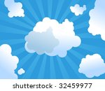 Clouds and sunshine - stock vector