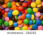 assorted candies (closer crop) - stock photo