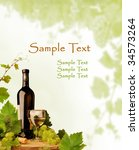 Wine motive background for wine list and other occasions - stock photo