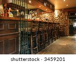 bar at old pub - stock photo