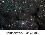 Barnard 150 dark nebula - stock photo