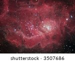 M8 Lagoon nebula in Sagittarius - stock photo