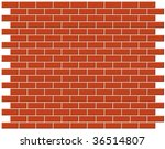 Brickwall vector background - stock vector