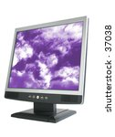 LCD display monitor. - stock photo