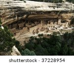 Cliff Palace at Mesa Verde National Park - stock photo