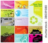 Vector business cards set - stock vector