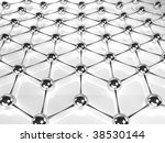 atom background - stock photo