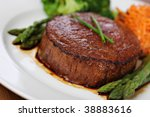 Juicy beef steak - stock photo