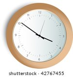 Classic  Clock - stock vector