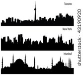 vector cityscape collection - stock vector