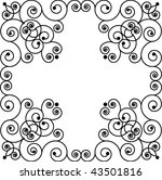Patterned frame like cross - stock vector
