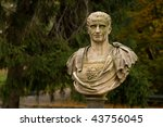 Julius Caesar statue in Warsaw park - stock photo