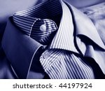 Two blue shirts in each other - stock photo