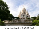 Sacre Coeur Montmartre in Paris, France - stock photo