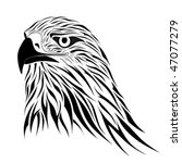 Hawk, tattoo - stock vector