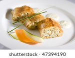 Rice strudel - stock photo