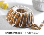 Almond cake - stock photo
