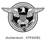 American Eagle Stamp - stock vector