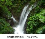 Waterfall in the Chachagua rain forest, Costa Rica - stock photo
