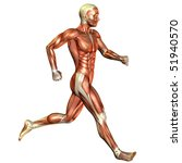 running muscle man - stock photo