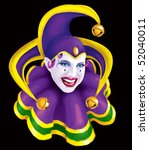 Mardi Gras Jester - stock photo